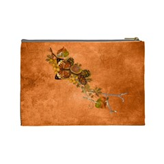 Autumn Delights   Cosmetic Bag (lg)  By Picklestar Scraps   Cosmetic Bag (large)   Ecunmhdmwpho   Www Artscow Com Back