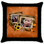 Autumn Delights - Throw Pillow Case  - Throw Pillow Case (Black)