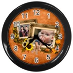 Autumn Delights - Wall Clock(Black)  - Wall Clock (Black)