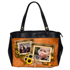 Autumn Delights   Oversize Handbag (2sides)  By Picklestar Scraps   Oversize Office Handbag (2 Sides)   Pacc4mtpg8jy   Www Artscow Com Front