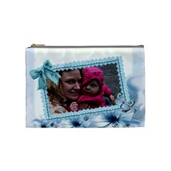 Pearls And Bow Cosmetic Bag By Katie Longbottom   Cosmetic Bag (medium)   S1i8erzd87qd   Www Artscow Com Front