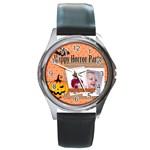 halloween - Round Metal Watch