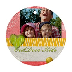 Kids By Joely   Round Ornament (two Sides)   Lfz5u3atvd8x   Www Artscow Com Back