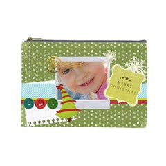 Xmas By Jo Jo   Cosmetic Bag (large)   7hfs8y7znqp7   Www Artscow Com Front
