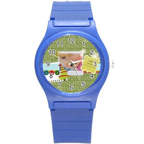Xmas By Jo Jo   Round Plastic Sport Watch (s)   Zy4r1xhmlwa5   Www Artscow Com Front