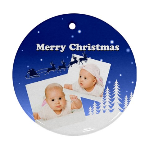 Xmas By Wood Johnson   Ornament (round)   M4lg2zhgb464   Www Artscow Com Front