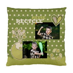 Green Kids By Angena Jolin   Standard Cushion Case (two Sides)   Bb433tk7esim   Www Artscow Com Back