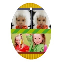 Christmas By Mac Book   Oval Ornament (two Sides)   9q7txzx36rpp   Www Artscow Com Back