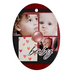 Family By Mac Book   Oval Ornament (two Sides)   Wb7xg3gbhuuu   Www Artscow Com Front