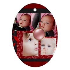 Family By Mac Book   Oval Ornament (two Sides)   Wb7xg3gbhuuu   Www Artscow Com Back