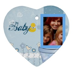 Baby By Jacob   Heart Ornament (two Sides)   Hta1dt1wfch3   Www Artscow Com Back