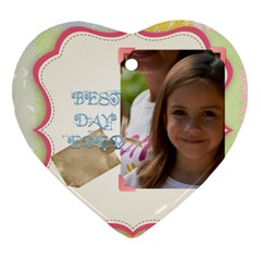 Girl By Jacob   Heart Ornament (two Sides)   Ffygsos5t7ke   Www Artscow Com Front