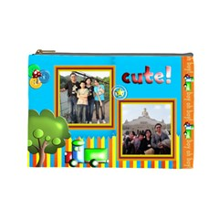 Family20121031 By Vivianyu   Cosmetic Bag (large)   7h5juv60slg8   Www Artscow Com Front