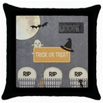 trick or treat bag boy - Throw Pillow Case (Black)