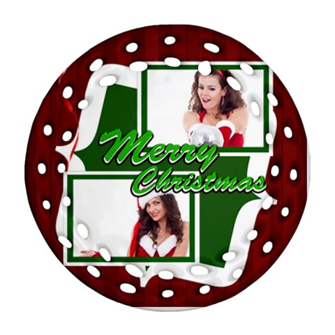 Christmas By Clince   Ornament (round Filigree)   I4mm18n4u9vt   Www Artscow Com Front