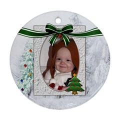 Christmas Tree Round Ornament (2 Sides) By Lil    Round Ornament (two Sides)   Zlw1090w3vv6   Www Artscow Com Front