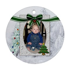 Christmas Tree Round Ornament (2 Sides) By Lil    Round Ornament (two Sides)   Zlw1090w3vv6   Www Artscow Com Back