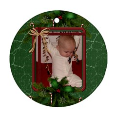 Green Christmas Round Ornament (2 Sides) By Lil    Round Ornament (two Sides)   Yvpfs0ia64le   Www Artscow Com Back