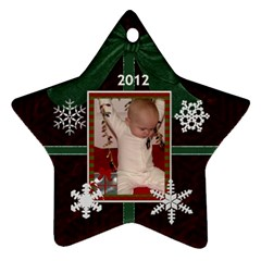 2012 Star Snowflake Ornament (2 Sides) By Lil    Star Ornament (two Sides)   L9hlf2gzhxs9   Www Artscow Com Front