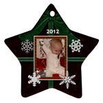 2012 Star Snowflake Ornament (2 Sides) - Star Ornament (Two Sides)