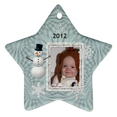2012 Winter Star Ornament (2 Sides) By Lil    Star Ornament (two Sides)   Nxj724er3wa9   Www Artscow Com Front