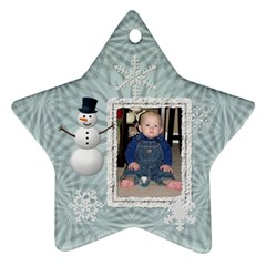 2012 Winter Star Ornament (2 Sides) By Lil    Star Ornament (two Sides)   Nxj724er3wa9   Www Artscow Com Back