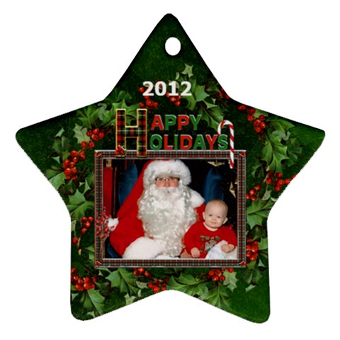 Happy Holidays Star Ornament (1 Sided) By Lil    Ornament (star)   Zpbnt7k0syoy   Www Artscow Com Front