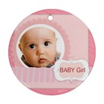 xmas baby - Round Ornament (Two Sides)
