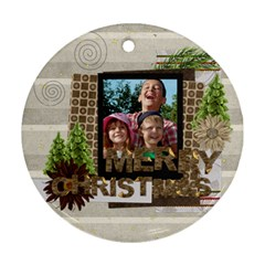 Xmas By Joely   Round Ornament (two Sides)   Ff8u7gzwhwk4   Www Artscow Com Front