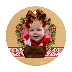 Xmas By Man   Round Ornament (two Sides)   Euwlrmgimaxq   Www Artscow Com Back