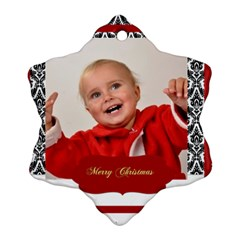 Christmas By Man   Snowflake Ornament (two Sides)   8yotr5wktd34   Www Artscow Com Front
