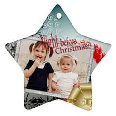 Xmas By Joely   Star Ornament (two Sides)   72pjyy8jacy2   Www Artscow Com Front