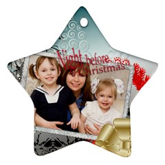 Xmas By Joely   Star Ornament (two Sides)   72pjyy8jacy2   Www Artscow Com Back