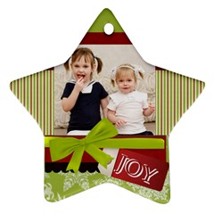 Xmas By Joely   Star Ornament (two Sides)   Cr6u3fuverba   Www Artscow Com Back
