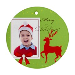 Xmas By Clince   Round Ornament (two Sides)   Wh87bxez03vs   Www Artscow Com Back