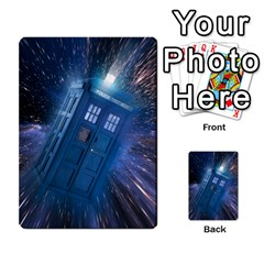 Doctor Who Project By Dude Lebowski   Playing Cards 54 Designs   Nwb3z6o9g3ir   Www Artscow Com Back