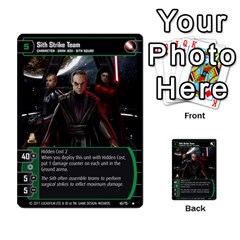 Star Wars Tcg X By Jaume Salva I Lara   Multi Purpose Cards (rectangle)   Vegj9py9njp2   Www Artscow Com Front 9