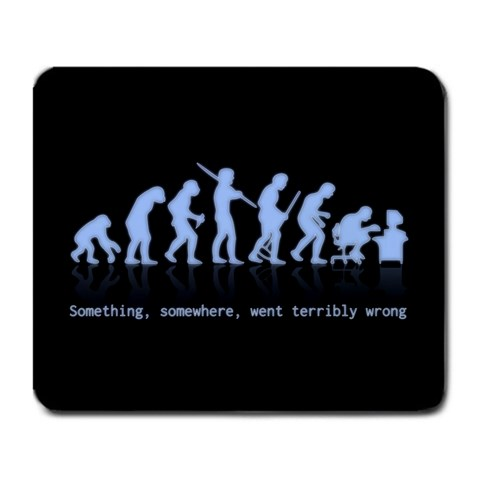 Evolution By Jordan Gibson   Large Mousepad   Sbfcq6n2romn   Www Artscow Com Front