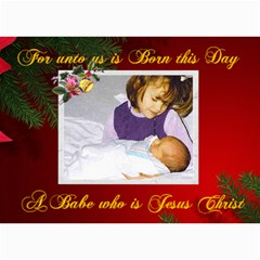 For Unto Us Photo Christmas Card 5 X 7 By Kim Blair   5  X 7  Photo Cards   116t4193r83l   Www Artscow Com 7 x5 Photo Card - 6