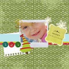 Christmas By Jo Jo   Scrapbook Page 12  X 12    B2ue2c4jvgnx   Www Artscow Com 12 x12 Scrapbook Page - 17