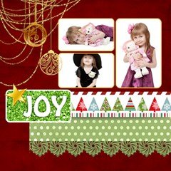 Christmas By Jo Jo   Scrapbook Page 12  X 12    B2ue2c4jvgnx   Www Artscow Com 12 x12 Scrapbook Page - 18