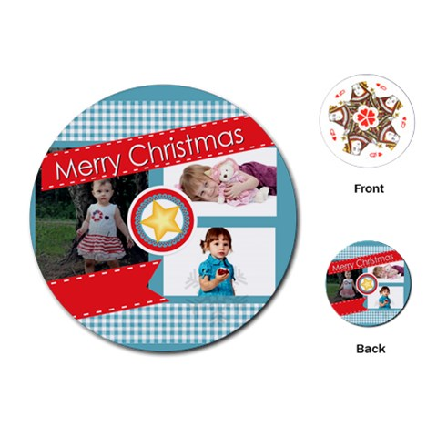 Xmas By Jo Jo   Playing Cards (round)   Vci9huhpeieh   Www Artscow Com Front