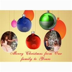 Christmas Ornament Photo Card 5 X 7 By Kim Blair   5  X 7  Photo Cards   C7ca5k2xgo2l   Www Artscow Com 7 x5 Photo Card - 5