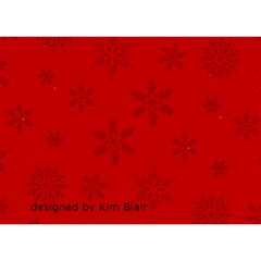 Christmas Tree And Kitten Circle 3d Card By Kim Blair   Circle 3d Greeting Card (7x5)   Rpxcj67x4w0i   Www Artscow Com Back