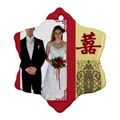 Wedding By Jo Jo   Snowflake Ornament (two Sides)   T9kyqdfz2vyn   Www Artscow Com Back