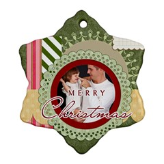 Christmsa By Jo Jo   Snowflake Ornament (two Sides)   Wg0a9x68sk99   Www Artscow Com Front