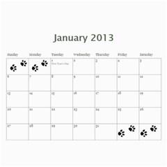Cuby 2013 By Amanda   Wall Calendar 11  X 8 5  (12 Months)   V4viwbbnb9od   Www Artscow Com Jan 2013