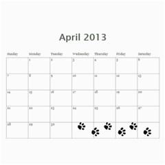 Cuby 2013 By Amanda   Wall Calendar 11  X 8 5  (12 Months)   V4viwbbnb9od   Www Artscow Com Apr 2013