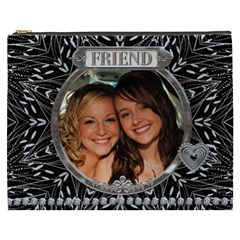 Friend Xxxl Cosmetic Bag By Lil    Cosmetic Bag (xxxl)   3465qwe51n40   Www Artscow Com Front
