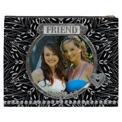 Friend Xxxl Cosmetic Bag By Lil    Cosmetic Bag (xxxl)   3465qwe51n40   Www Artscow Com Back